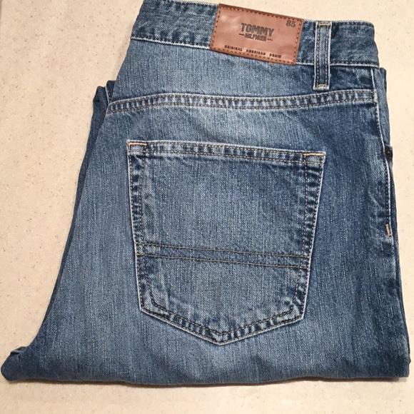 Tommy Hilfiger Jeans Mens Straight Leg Classic Fit Denim Zip